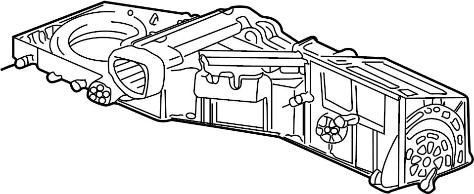 GMC Yukon XL 2500 A/c evaporator core case. Front 2003-06