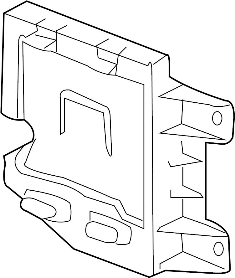 Chevrolet Express 3500 Engine Control Module Bracket. 6.6