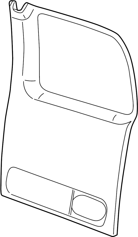GMC Savana 2500 Door Interior Trim Panel. 1/2, 3/4 & 1 Ton