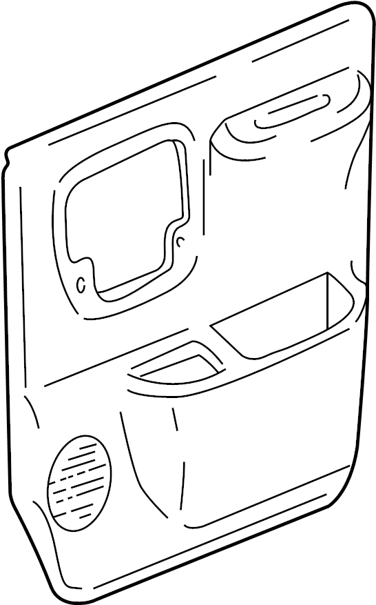 Chevrolet Express 3500 Door Interior Trim Panel. FRONT