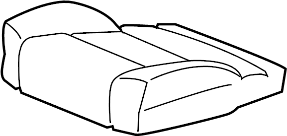 GMC Yukon Seat Cover. SPLIT BENCH SEAT, vinyl, black