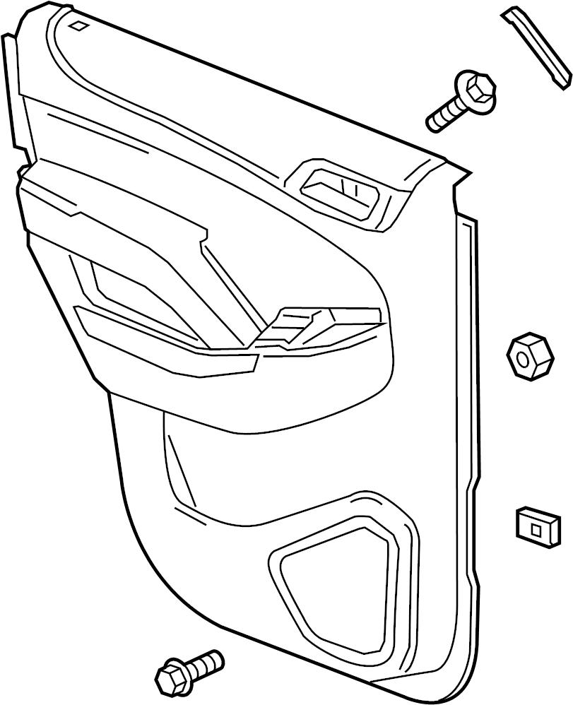 Chevrolet Tahoe Door Interior Trim Panel (Rear). TAHOE