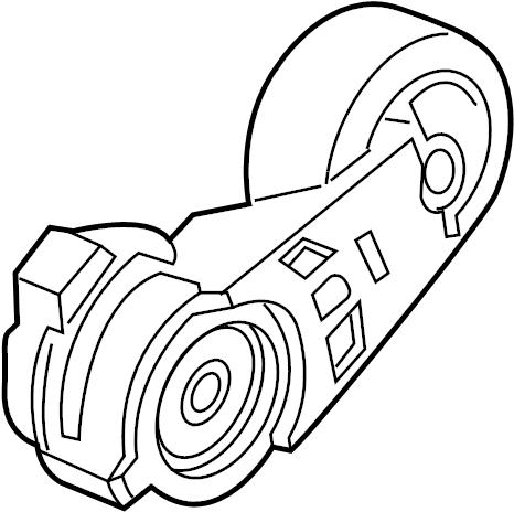 Hummer H3 Accessory Drive Belt Tensioner Assembly. LITER