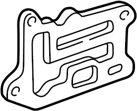 Buick Skyhawk Egr valve spacer plate. Engine coolant