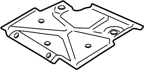 Chevrolet S10 Powertrain Skid Plate. FRONT, SUSPENSION