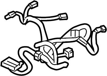 Chevrolet Tahoe Power Seat Wiring Harness. W/O HEATED