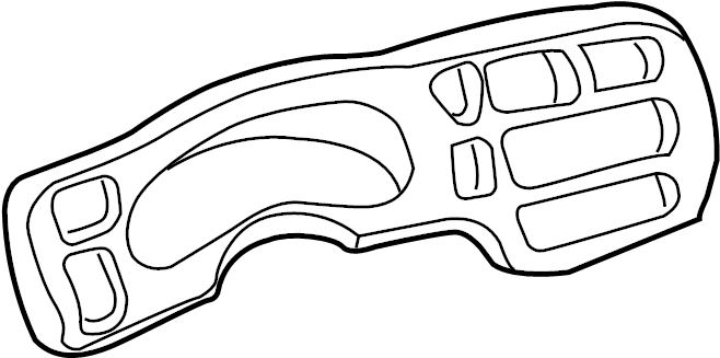 GMC Sonoma Cluster. Instrument. Bezel. Panel. Trim. Plate