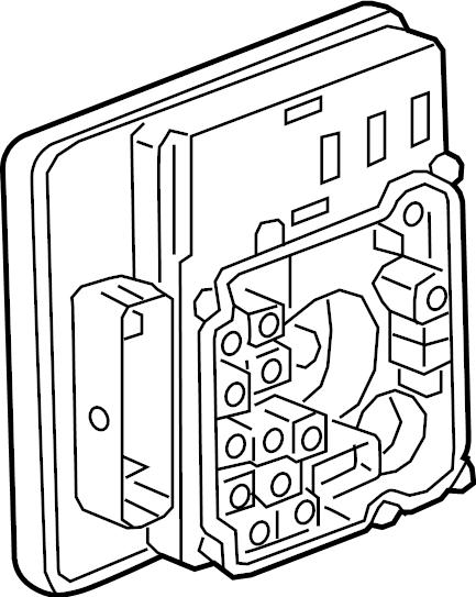 GMC Sierra 1500 Limited Abs control module. Trailer, cab