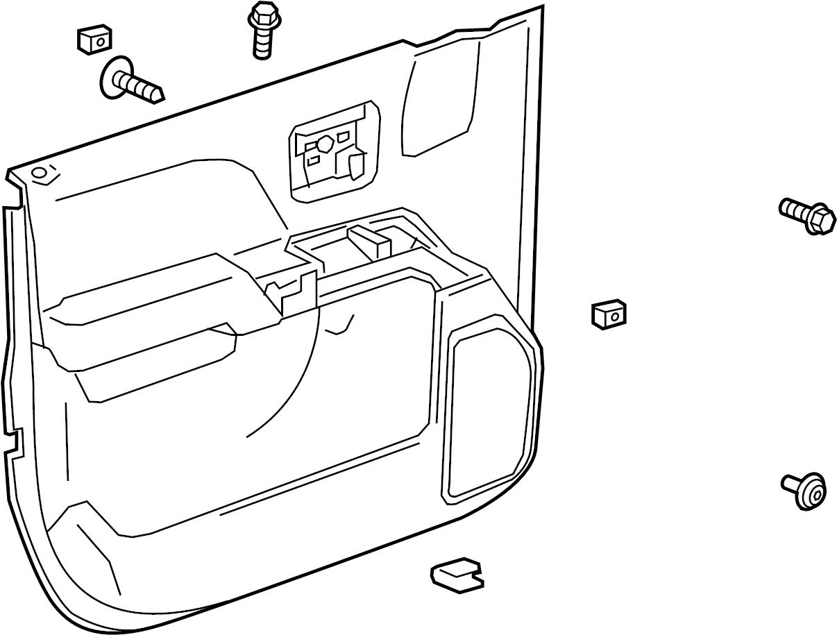 GMC Sierra 2500 HD Door Interior Trim Panel. System, CAB