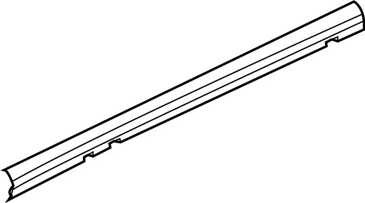 Chevrolet Silverado 3500 HD Side seal. Weatherstrip. W
