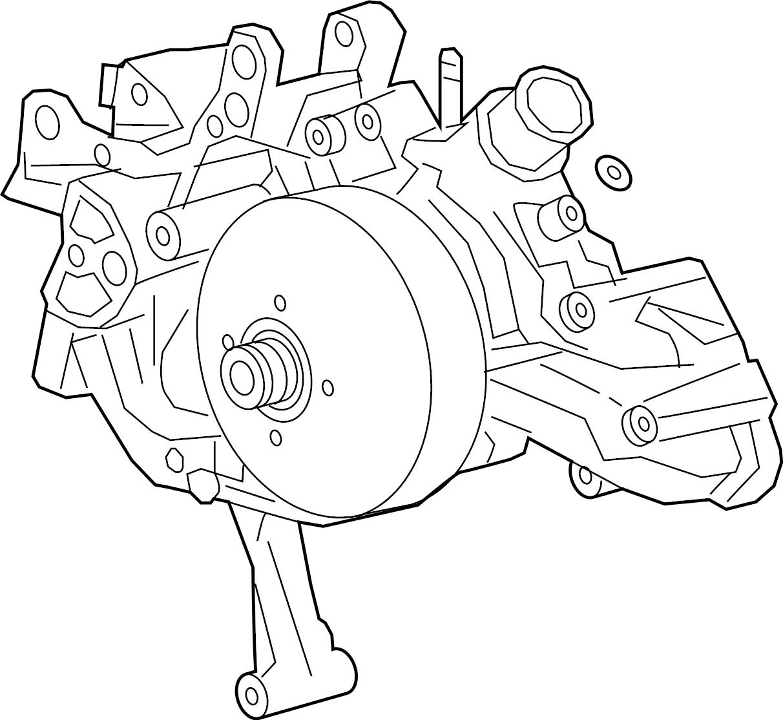 Chevrolet Silverado Water Pump Engine 20 4 3