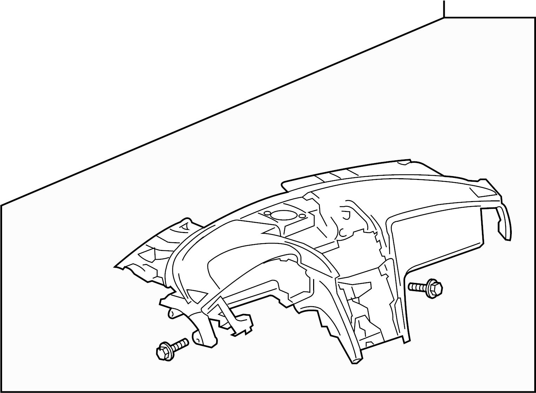 Chevrolet Traverse Dashboard Panel. Instrument, Make