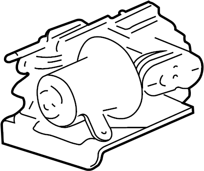 Chevrolet Trailblazer Air Suspension Compressor. Rear
