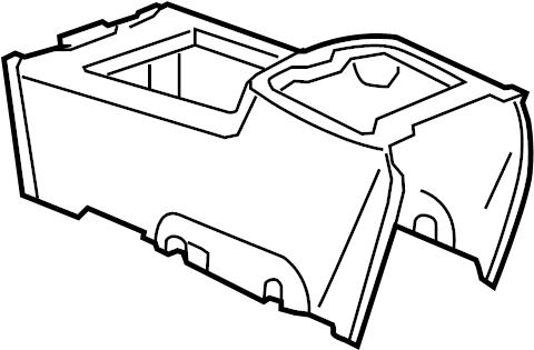 Chevrolet Silverado 1500 Center Console. W/premium audio