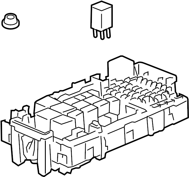 Hummer H3T Fuse Box. 3.7 liter. Telematics, Motors