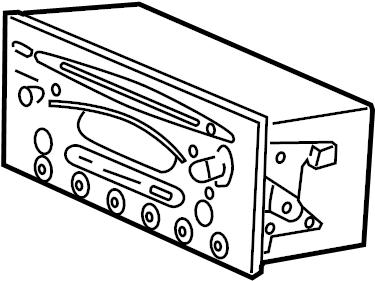 Saturn LS2 Radio Control Unit. AM/FM cass w/EQ