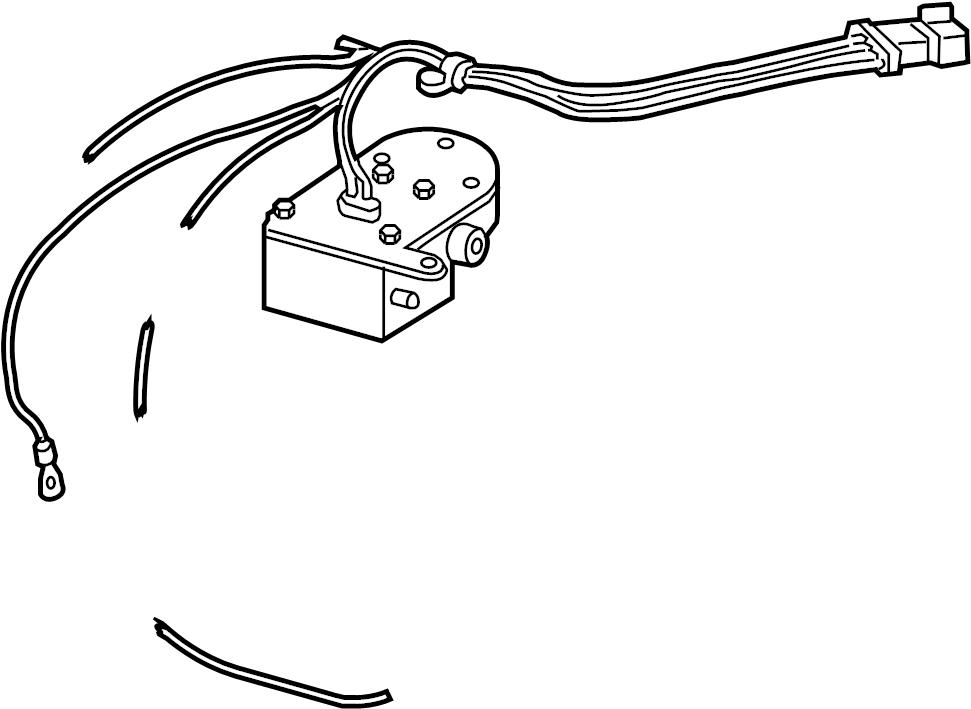 Oldsmobile Silhouette Air Suspension Compressor. REAR