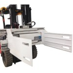 Forklift with bale clamp attachment supplier