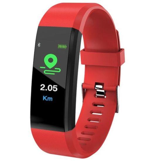 smartwatch blood pressure bangwei red