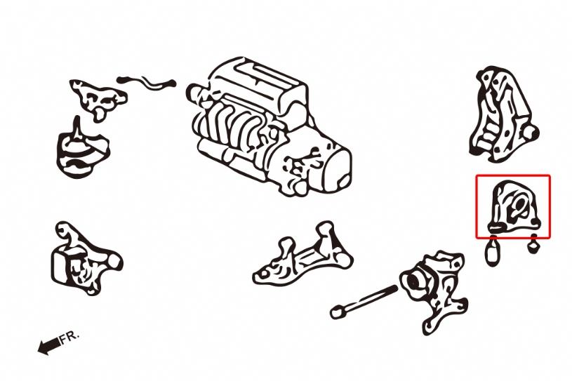 Hardrace Rear Motor Mount (Manual Trans) 02-06 RSX DC5