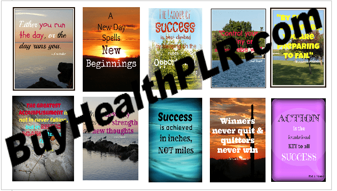 Motivational PLR graphics for Pinterest