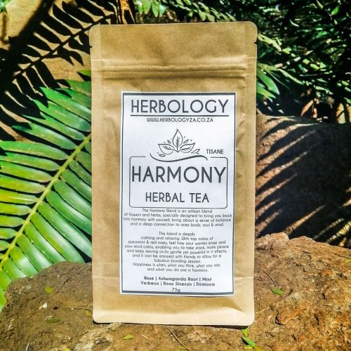 The Harmony Herbal Tea Blend is an artisan blend of flowers and herbs, specially designed to bring you back into harmony with yourself, bring about a sense of balance and a deep connection to ones body, soul & mind.
