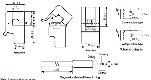 SCT-013-030 Non-invasive AC Current Sensor Clamp Sensor