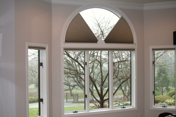 cellular honeycomb movable arch shades
