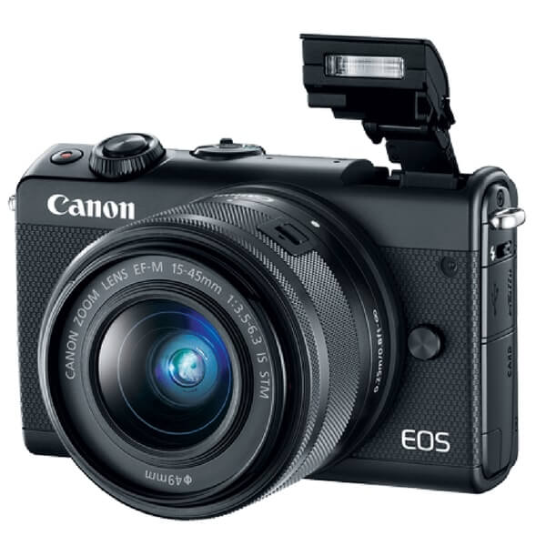 Canon EOS M100 Black With Flash, Canon EOS M100 Black colour pics, Canon EOS M100 Black colour image gallery