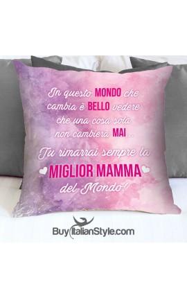 Regalo mamma cuscino con dedica