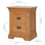 Loire Farmhouse Solid Oak Bedside Table 2 Drawer Buyitdirect Ie