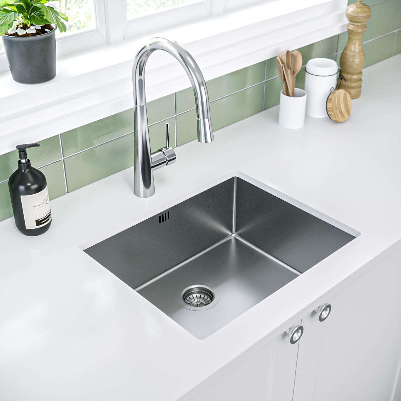 single bowl chrome stainless steel kitchen sink enza yara