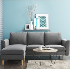 Really Small Corner Sofas How To Clean Ink Stain On Leather Sofa Brooke Light Grey 3 Seater Right Left Hand Chaise