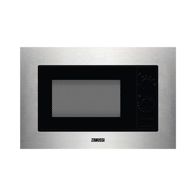 zanussi zmsn5sx 17l built in standard microwave stainless steel