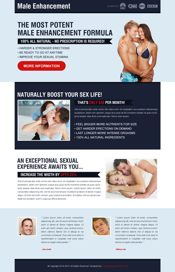 male enhancement formula landing page design templates example from http://www.semanticlp.com/category/male-enhancement/