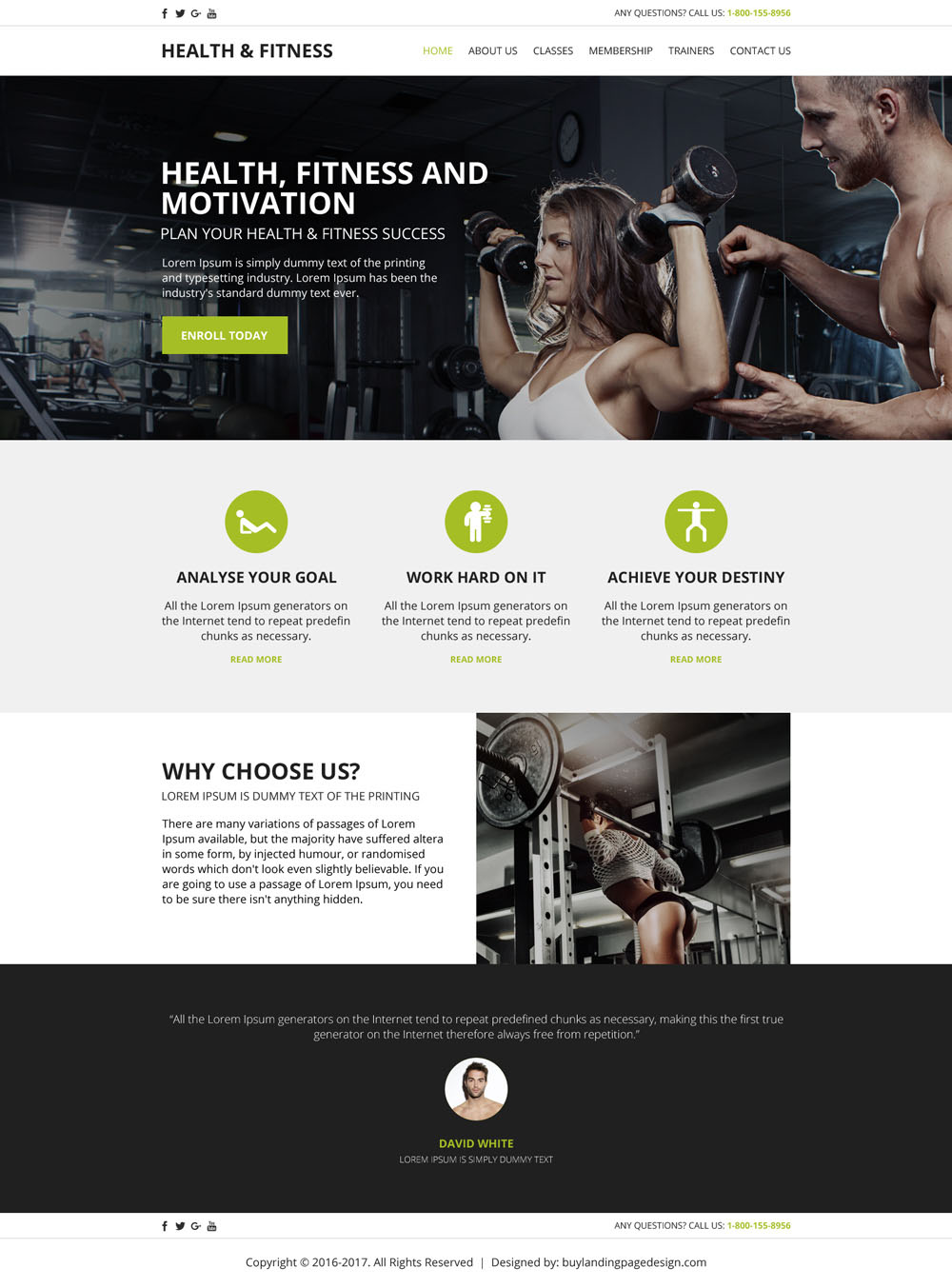 Create Your Health And Fitness Website With Our Html Templates