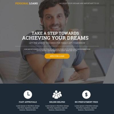 best cash loan, e-loan, personal loan landing page designs
