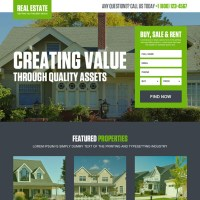 real estate landing page design templates to capture leads