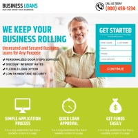 business loan landing page design templates to capture leads