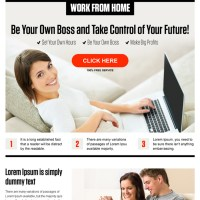 work from home pay per click landing page design template