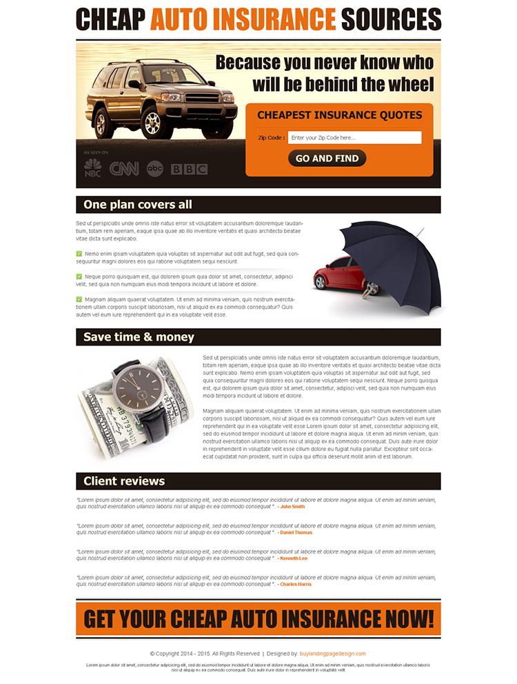 Explode your insurance broker business. Cheap Auto Insurance Quote Lp 016 Auto Insurance Landing Page Design Preview