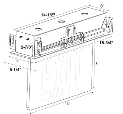 LED Edge Lit Recessed Exit Signs 866-637-1530