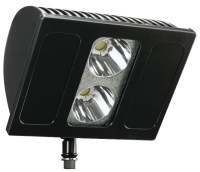 led flood light fixture rated at 76 watts. led 40 watt