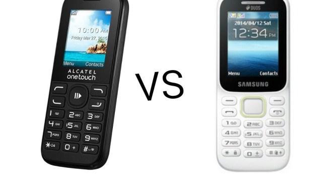 Alcatel 10.52D vs Samsung guru music 2