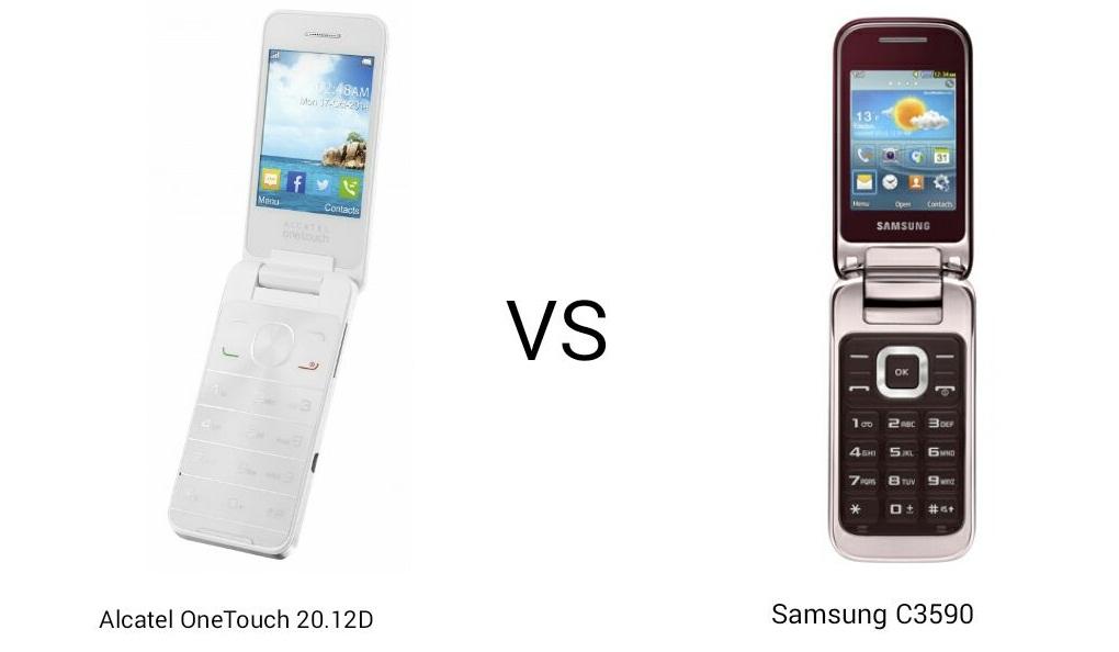 Feature Phone Alcatel 20.12D VS Samsung C3590