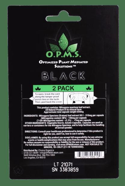 Back of OPMS Black 2 Count