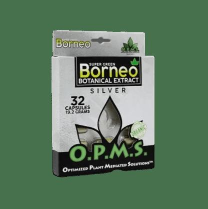 O.P.M.S. Kratom Silver Super Green Borneo 19.2g Blister, 32 caps