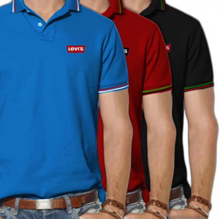 Pack of 3 Levi's Polo T-shirts in Pakistan