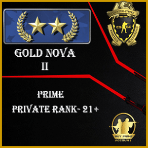 GN2 Prime Account | Buy CSGO GN2 Prime Account | Gold Nova 2 Prime