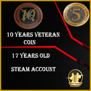 CSGO Veteran Coin Account | 5 Year Coin CSGO Account | CSGO veteran